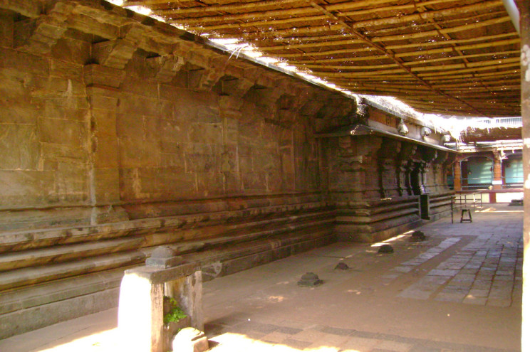 Inside the temple premises