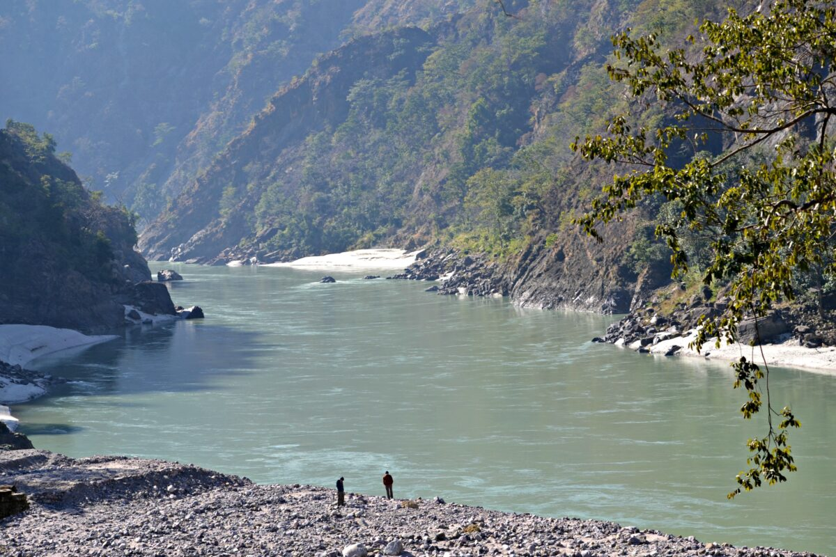 Ganga meandering through the valleys