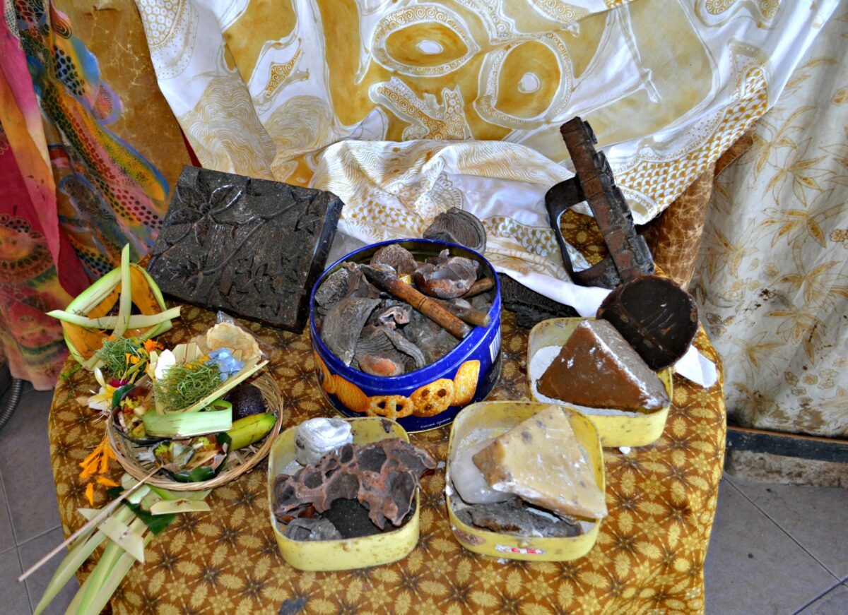 Offerings made by people to their deity