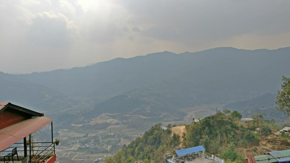view from temple
