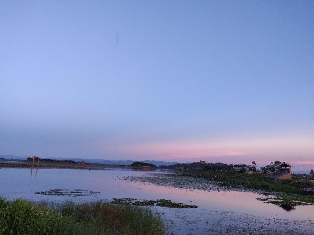 Sunset at Loktak Lake