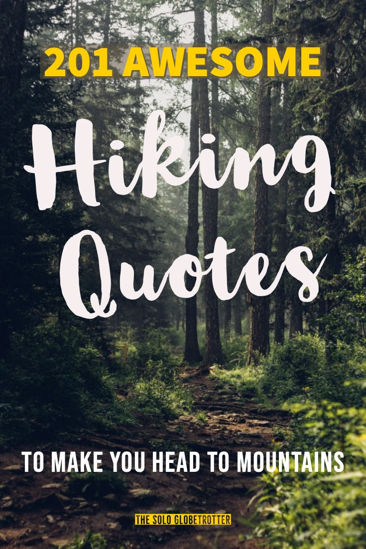 Hiking quotes pinterest