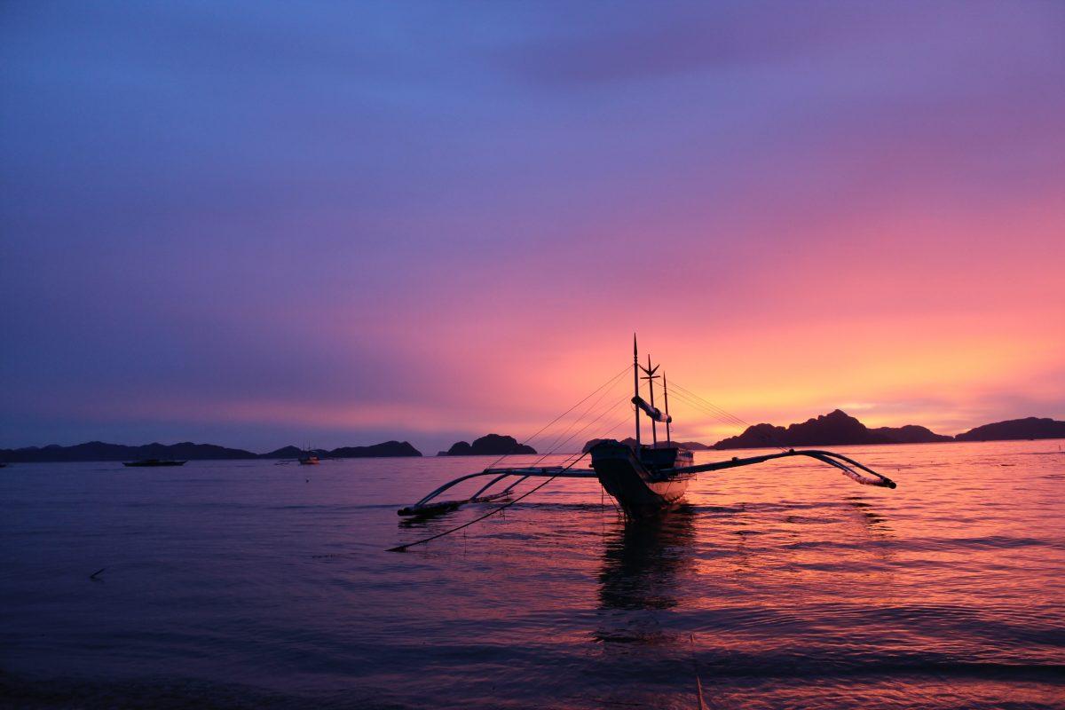 Sunset in Sumilon Island