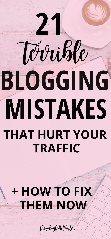 Amateur Blogging Mistakes