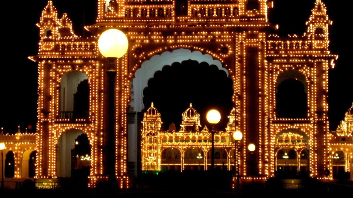 Royal Mysore Palace at night