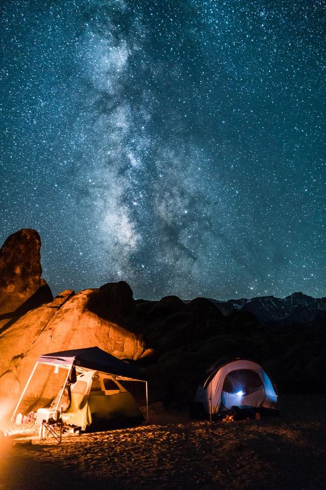 Alabama hills CA camping